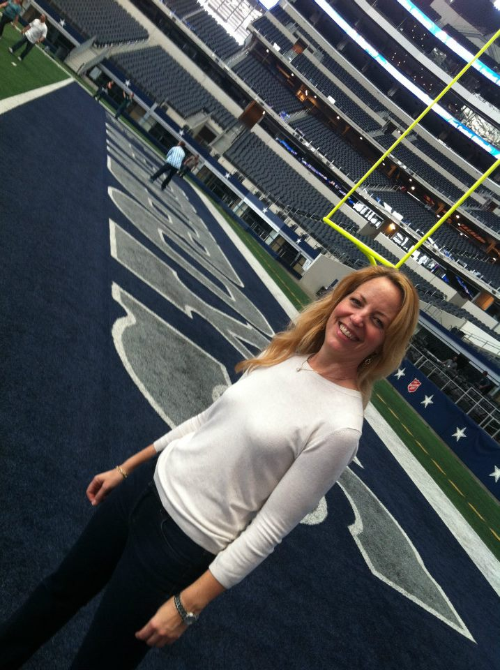 Touring Cowboy Stadium in advance of the Dallas Opera's Turandot stadium simulcast