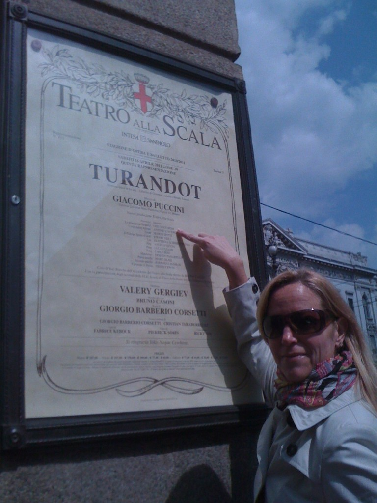 Spotting a familiar name at La Scala