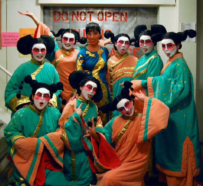 As Turandot with my fantastic and fun Handmaidens, San Diego Opera