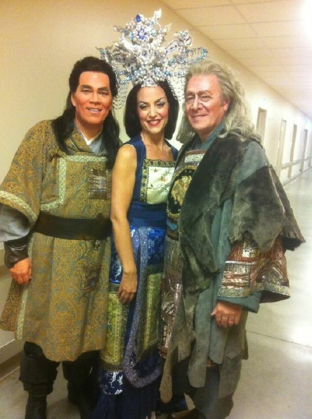 Backstage during Turandot at Lyric Opera Kansas City with Samuel Ramey and Arnold Rawls